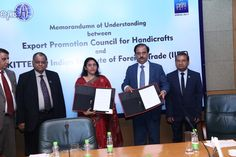 MOU is signed between EPCH and IIFT to encourage entrepreneurship in Handicrafts sector by setting up Incubation centres at craft clusters. — at India Expo Centre & Mart, Greater Noida.
