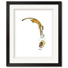 Calvin and Hobbes Gonna Catch You Poster Print. $49.99, via Etsy.