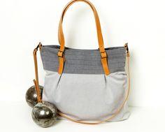 Umhängetaschen - Graue Handtasche - ein Designerstück von CHANTA-DESIGN bei DaWanda