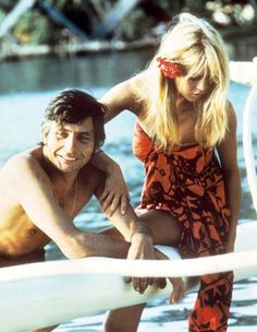 Brigitte Bardot on honeymoon in Tahiti with her new husband Gunter Sachs, 1966