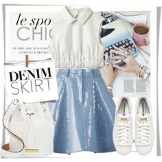 How To Wear Cute Denim Outfit Idea 2017 - Fashion Trends Ready To Wear For Plus Size, Curvy Women Over 20, 30, 40, 50