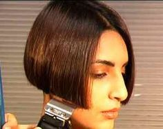 Bob Haircut with Nape Shave hairstyle