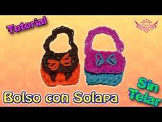 ♥ Tutorial: Bolsito en 2D Con Solapa de gomitas (sin telar) ♥ - YouTube