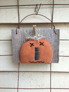 Primitive Pumpkin  Halloween Jack O Lantern  by PrimitivesByCyn