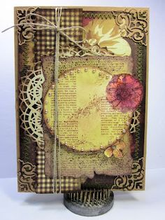 I will admit it - I have a tough time making masculine cards, but I have one to share with you today that just goes to show that you can combine your intricate Dies and more manly papers to create a card for the man in your life. #cheeryld #beadz Dies used: Lace Corner Deco D - B164; Nautical Wheeler Doily - DL180 http://www.cheerylynndesigns.com
