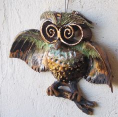 Cute  owl  Hanging on the wall owl  Fan art  Symbol by DeepSilence, $40.00