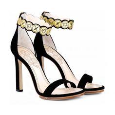 Sandalo Donna Fabi F2500 CIPRO NERO - Fabi @fabishoes  #heels #shoes #sandals