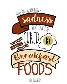 Ron Swanson Breakfast Parks And Recreation by PaperLoveSong