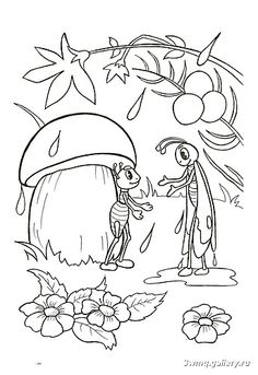 1 Mandala Coloring Pages, Coloring Book Pages, Coloring Sheets, Pencil Art Drawings, Easy Drawings, Mushroom Drawing, Story Drawing, Bug Crafts, Object Drawing