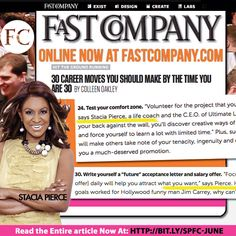 Fast Company 30 career moves you should make by the time your 30!