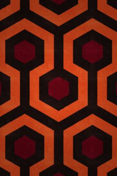 A section of the patterned carpet used in Stanley Kubrick's The Shining.