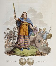 The Celtic queen Boudicca shown on a 19th-century engraving (National Trust Photo Library/Art Resource, NY)The Celtic queen Boudicca shown on a 19th-century engraving)