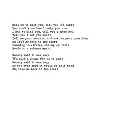 coldplay, the scientist. favorite song ever