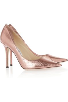 Jimmy Choo | Abel metallic elaphe pumps | NET-A-PORTER.COM