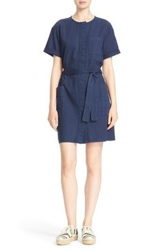 Current/Elliott 'The Ama' Eyelet Trim Cotton Dress available at #Nordstrom