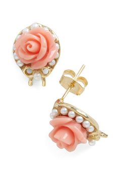 Floral Concert Earrings, #ModCloth