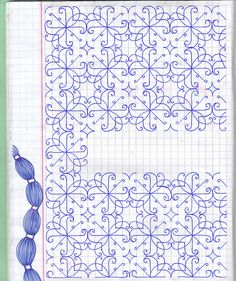 Makes me think it would be fun try blackwork patterns in tangling. Blackwork Patterns, Blackwork Embroidery, Doodle Patterns, Zentangle Patterns, Cross Stitch Embroidery, Embroidery Patterns, Cross Stitch Patterns, Zentangle Drawings, Doodles Zentangles