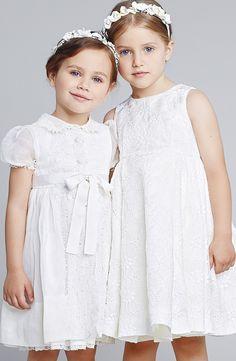 White lace dress - Dolce & Gabbana Kids - Via Vivi & Oli Baby Fashion Life Fashion Kids, Little Girl Fashion, Dresses Kids Girl, Little Dresses, Kids Outfits, Flower Girls, Flower Girl Dresses, Dolce And Gabbana Kids, Dolce & Gabbana