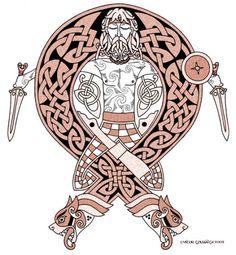birdsofrhiannon:  Celtic Warrior by twistedstrokes