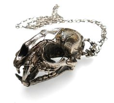 - Medieval Monster Skull with Moving Jaw Silver Ox Necklace, Handmade Jewelry in the USA!