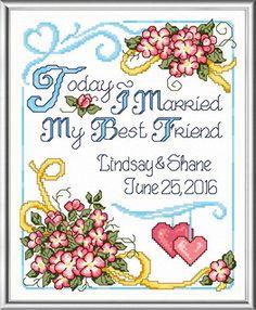 My Best Friend Wedding - cross stitch pattern designed by Ursula Michael.