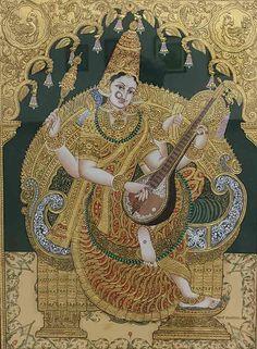 Yashoda Krishna, Krishna Hindu, Mysore Painting, Madhubani Painting, Traditional Paintings, Traditional Art, Indian Art Paintings, God Pictures, Krishna Images