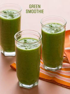 green smoothie - Good for the easy days, or when you have eaten too much and need a simpler meal