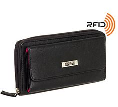 Kenneth Cole Reaction Womens RFID Urban Organizer Clutch Wallet Buff Black * Find out more about the great product at the image link.