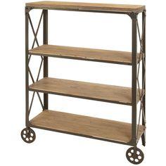 Caen Shelf Cart - would be nice as a mini-bar