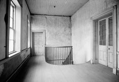 Chretien Point Plantation Mansion, Sunset Louisiana February 27, 1940 HALL AND STAIRS, SECOND FLOOR