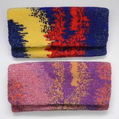 Tie Dyed Beaded Clutch