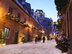 Quebec City, Canadá. Apesar do frio e neve, é uma viagem que vale a pena ;)