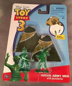 Toy Story Green Army Men With Parachutes Toy Story 3 Sealed Disney Pixar #ThinkwayToys