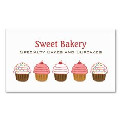 Cupcake bakery business cards this great business card design is cupcake bakery business cards this great business card design is available for customization all text style colors sizes can be modified to fit reheart Images