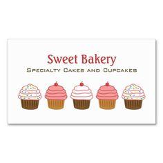 Bakery Cupcake Business Cards
