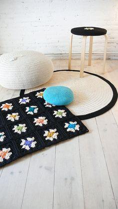 Crochet rug Granny Square