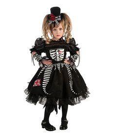 This Black Bones Dress-Up Set - Girls is perfect! #zulilyfinds