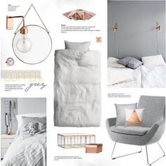 Copper & Grey by bellamarie on Polyvore featuring polyvore, interior, interiors, interior design, home, home decor, interior decorating, Swedese, H&M and Unison