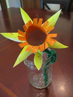 Daffodils from cardboard tubes--perfect for welcoming spring!