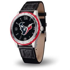 Houston Texans Player Series Watch   Embossed leather, canvas, and polyurethane strap with sport buckle Scratch resistant mineral crystal lens Precision quartz movement Accented with a coordinating
