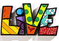 Romero Britto Word Decor LIVE by Giftcraft Romero Britto Live Polyresin Sculpture or Wall Art Art Furniture, Britto Disney, Pop Art, Arte Country, Graffiti Painting, Graffiti Art, Art Plastique, Wall Sculptures, Decorative Objects