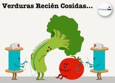 Verduras recién cosidas