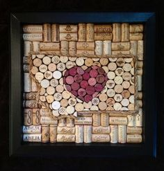 Heart Montana Wine Cork Board