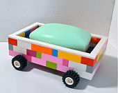LEGO TOOTHBRUSH Holder And Race Car Soap Dish BATH Set