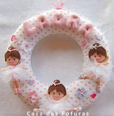 Enfeite Porta Maternidade Bailarinas.