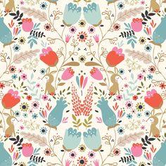 Beautiful Garden Girl by Tea and Sympathy for Studio E Fabrics