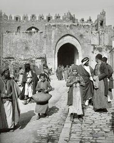 بوابة دمشق في القدس 1900