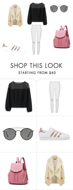 """""""casual"""" by ikatsamaki on Polyvore featuring Chicwish, River Island, Ray-Ban, adidas Originals and Burberry"""