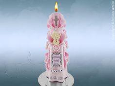 Taufkerze Schutzengel von Lenz  Kerzen auf DaWanda.com