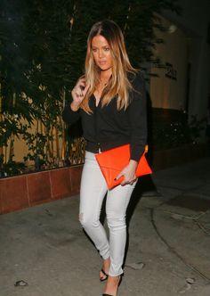 September 23, 2013 -Khloe leaving Ruth's Chris Steak House in Woodland Hills.